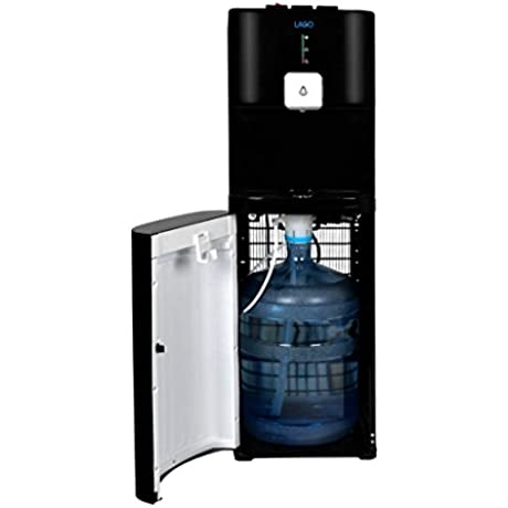 Lago CLBL220 Bottom Load Hot Cold Room Black Water Cooler Dispenser