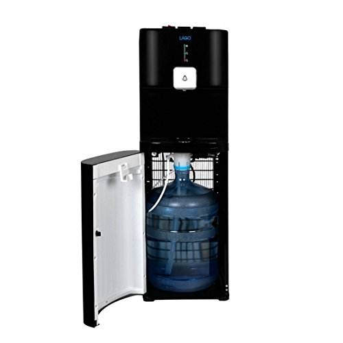 Lago CLBL220 Bottom Load Hot, Cold & Room Black Water Cooler Dispenser by LAGO