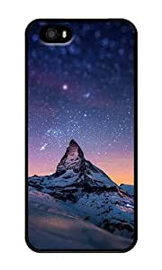 iPhone 5 Case,iPhone 5S Case,VUTTOO Stylish Starry Night With A Mountain Hard Case For Apple iPhone 5/5S - PC Black