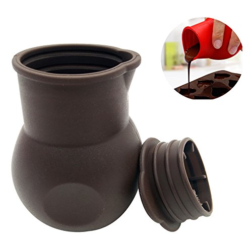 Silicone Nonstick Chocolate Melting Pot Melt Butter Heat Milk Sauce Microwave Baking Pot (Dipping Sauce Chocolate)