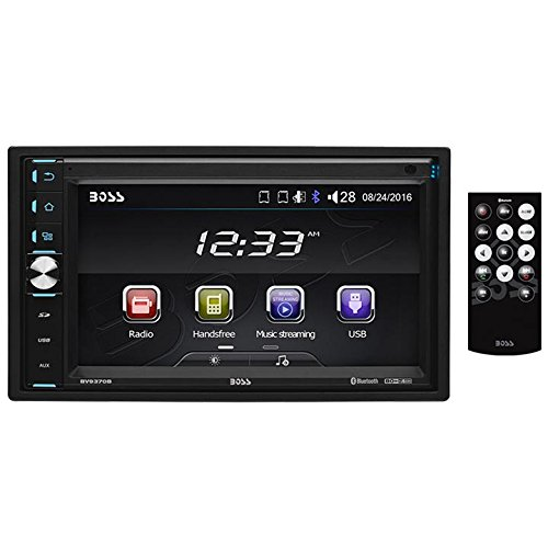 BOSS Audio BV9370B Car Stereo  Double Din, Bluetooth Audio and Hands Free Calling, 6.5 Inch Touchscreen LCD Monitor, MP3 Player, USB Port, SD Card Slot, AUX Input, AM/FM Radio Receiver (No CD/DVD)