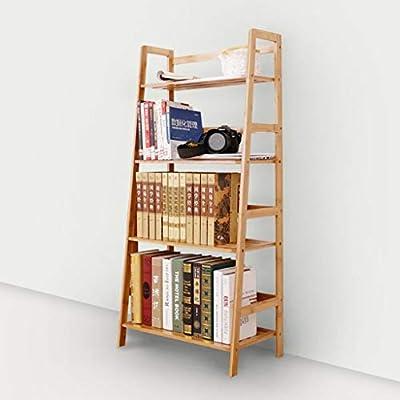 Estante - Escalera de aterrizaje Estantería Estantería Estantería de almacenamiento de bambú Estante de acabado minimalista moderno (Tamaño : 119cm): Amazon.es: Bricolaje y herramientas