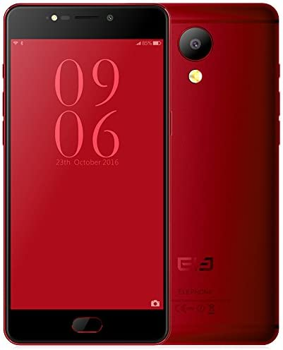 Elephone P8 5.5 Inch Smartphone 4G Phablet Android 7.0 Helio P25 2.5GHz Octa Core 6GB RAM 64GB ROM 21.0MP Rear Camera Fingerprint Sensor Dual Band WiFi,Red: Amazon.es: Electrónica