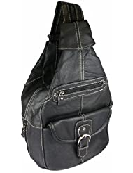 Convertible Backpack Purse Mid Size Tear Drop Shoulder Sling Bag Genuine Leather