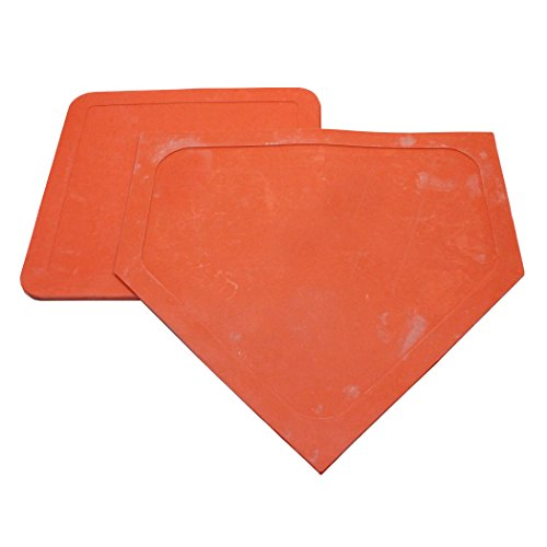 Dick Martin Sports MASBS60BN Throw-Down Home Plate and 3 Bases Orange Rubber, Grade Kindergarten to 1, 6