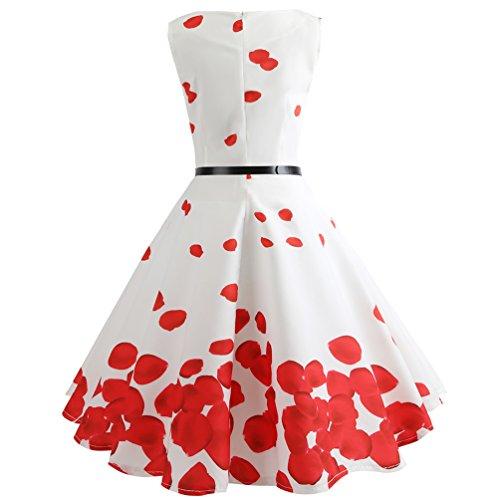 Girocollo Stampato Vintage Per Stile Line 24 Da Jitong Donna Vestiti Swing Pieghe Abito 1950s Vestito A Festa Elegante xw0SIqYFO