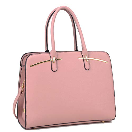 Women Fashion Purses and Handbags Large Tote Bag Shoulder Bag Top Handle Satchel Purse Hobo for Ladies (Pink)