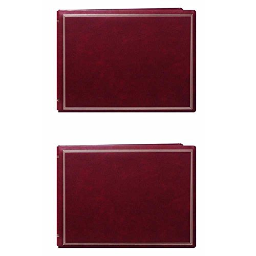 Burgundy Refillable (Pioneer Jumbo Magnetic Page X-Pando Photo Album (Burgundy Red) 2-Pack)