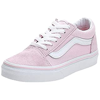 Vans Kids K Old Skool V Suede Canvas Chalk Pink White Size 11.5