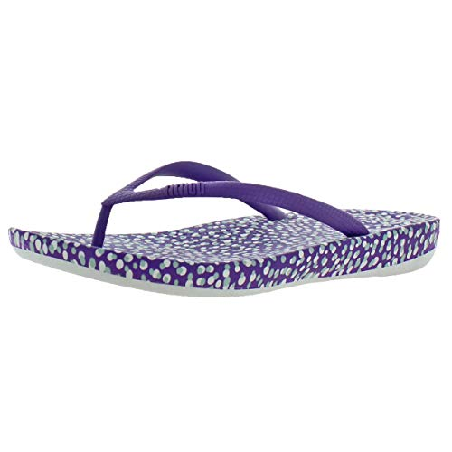 FitFlop Women's iQushion Ergonomic Flip-Flop,Purple Bubbles,US 6 M ()