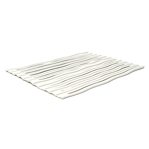 ta da Over-The-Sink Silicone Roll Out Drying Mat, Light Grey