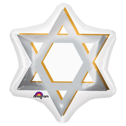 Anagram 32627 Star Of David Foil Balloon, 21
