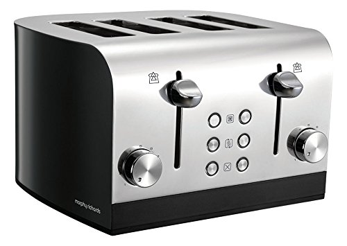 Morphy Richards Equip 4 Slice Toaster 241000  Four Slice Toaster Black...