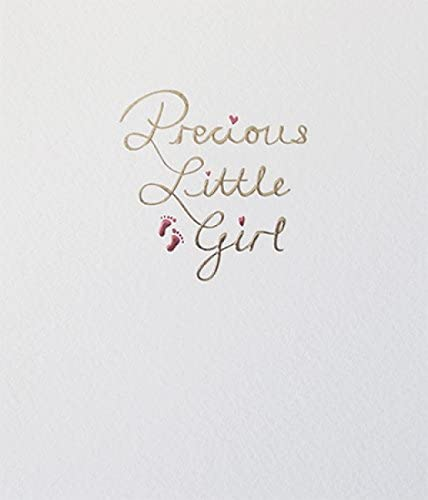- New Baby Greeting Card PLK9062 Embossed and Foil Finish Precious Little Girl Mimosa Range