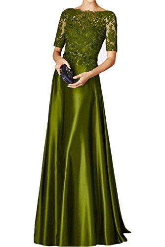La mia Braut Rot Spitze Abendkleider Lang Festkleider Damen Ballkleid  Langarm Spitzenkleider Jugendweihe Kleider Olive Gruen 3D32d 60b643df1f