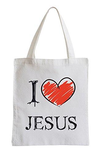 I love Jesus Fun sacchetto di iuta