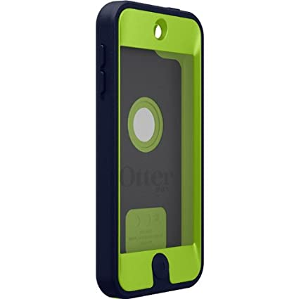 OtterBox Defender Case for Apple iPod Touch 5th Generation - Retail Packaging - (Glow Green/Admiral Blue)