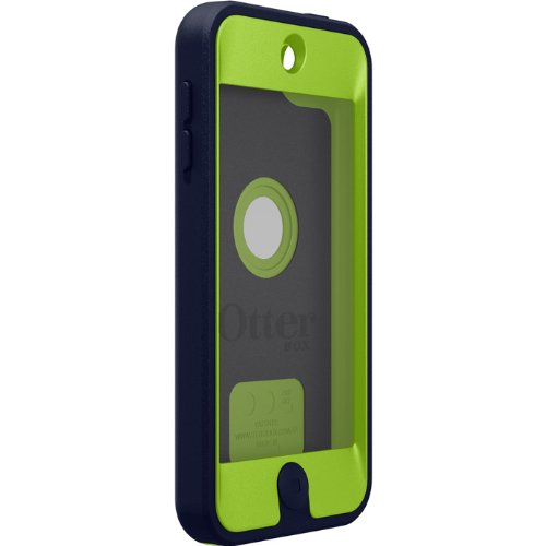 OtterBox Defender Case for Apple iPod Touch 5th Generation - Retail Packaging - (Glow Green/Admiral Blue) (Apple Ipod Strap)