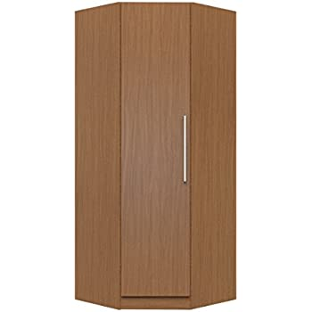 Charmant Manhattan Comfort Chelsea Corner Closet Collection Free Standing Corner  Wardrobe Closet With 2 Hanging Rods And