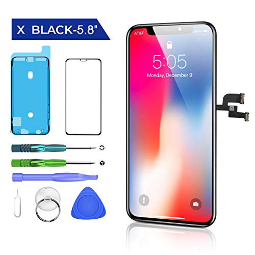 HTECHY Replacement for iPhone X Screen Replacement Black(5.8