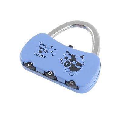 Joyero eDealMax bolso reajustable 3 dígitos del código de bloqueo Azul Negro