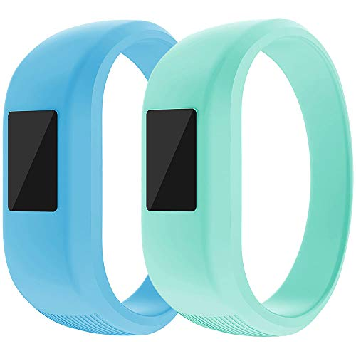 ZSZCXD Garmin Vivofit Jr/Vivofit Jr.2 Bands, Soft Silicon Wristband Strap Replacement Bands for Garmin Vivofit Jr/Vivofit Jr.2, Small and Large?for Kids? (2Pcs, Small: 5.7)