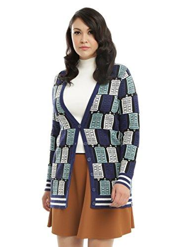 Doctor Who TARDIS Print Girls Cardigan Plus Size