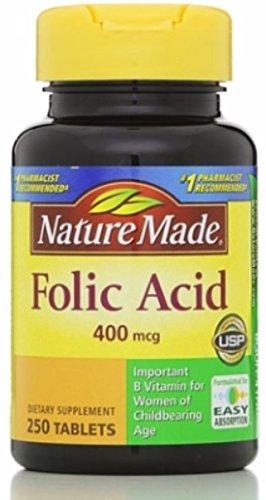 Nature Made Folic Acid, 250 Count