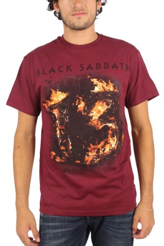 Black Sabbath - Mens 13 T-Shirt in Dark Red, Size: X-Large, Color: Dark Red