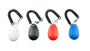 [2017 NEW UPGRADE version] Dog Training Clicker with Wrist Strap - Pet Training Clicker Set by Ecocity (4 color new)