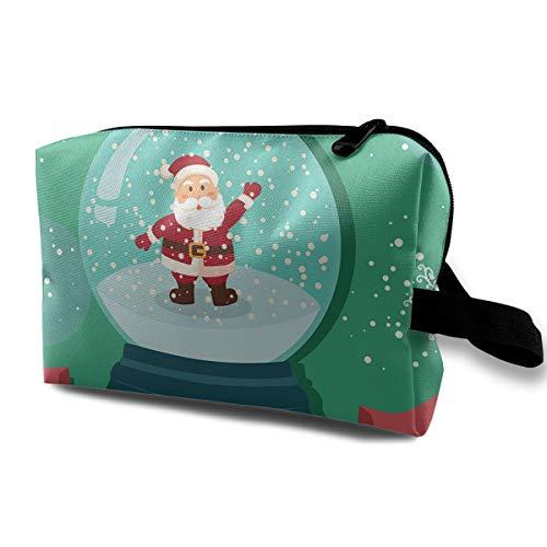 (LIUYAN Hanging Toiletry Bag Santa Snowball Snowflakes Makeup Bag for Women Girls)