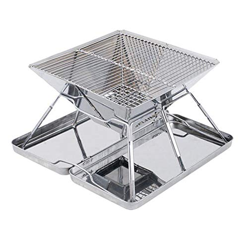 Zywtrade Stainless Steel Grill,Portable Folding Grill,Firewood Stove,BBQ Grill,Charcoal Stove,Barbecue Grill