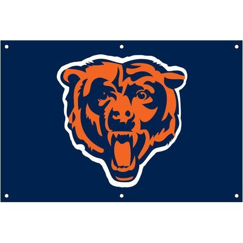 Chicago Bears Official NFL 24 inch x 36 inch Banner Flag by Party Animal by Party Animal