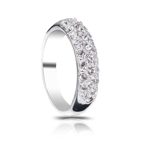 Fashion Plaza Women Jewelry Use Austrian Multi-Crystal Spark Ring R51
