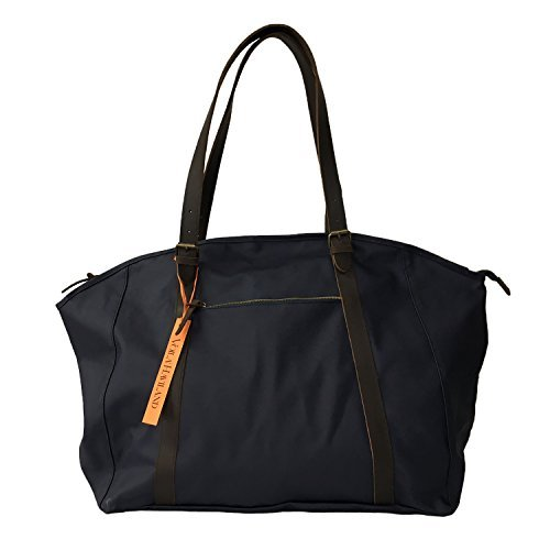 detalles HAVILAND algodón hombre piel encerado VOILA' WEEKEND bolsa de de azul 1dxqY48wZ