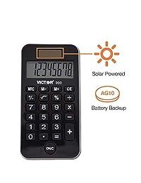 900 antimicrobiano calculadora de bolsillo, 8 dígitos LCD Paquete de 10