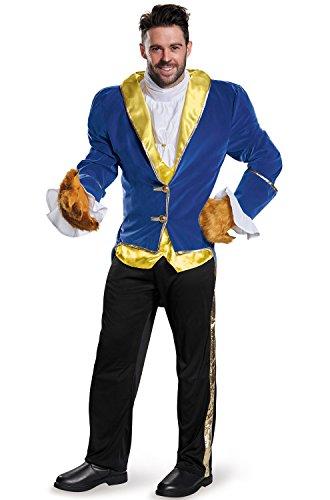 [Disney Men's Plus Size Beauty and the Beast Prestige Costume, Blue, XX-Large] (Mens Beast Halloween Costume)