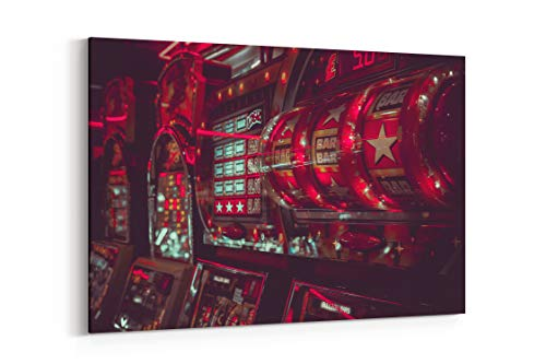 - Casino Game Arcade and Light in Southport United Kingdom - Canvas Wall Art Gallery Wrapped 18