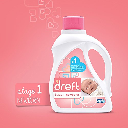 Large Product Image of Dreft Stage 1: Newborn Hypoallergenic Liquid Baby Laundry Detergent (HE), 50 Ounces (32 Loads), 2 Count