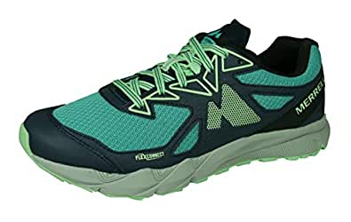 Merrell Agility Fusion Flex Womens Trail Running Trainers/Shoes -Blue-6.5