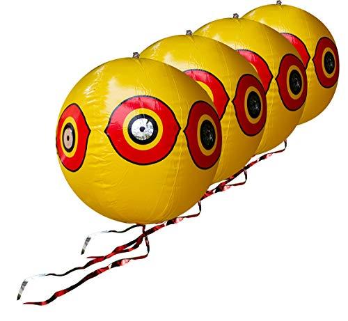 (Bird Repellent Predator Eye Balloon Bird Deterrent Scares Birds, Bird Scare Devices (Pack of 4))