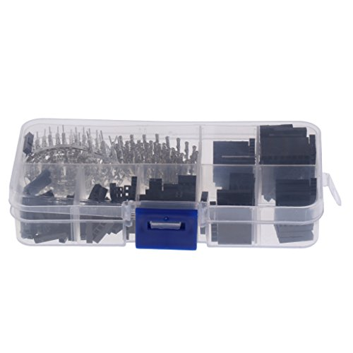 Sharplace 310pcs 2.54mm Pitch Wire Jumper Connector Housing Terminal Assortment: