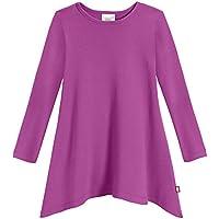 City Threads Girls Shark Bite Long Sleeve Tunic Top Blouse Shirt Stylish Modern