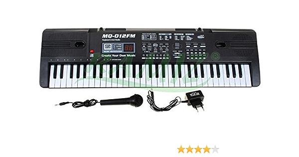 Teclado MK-012 FM con función de grabación, micrófono ...