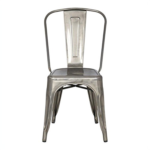 Magnussen Stovall Industrial Gun Metal Dining Chair, Set Of 4
