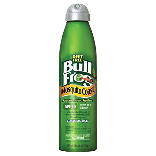 Bull Frog Mosquito Coast Spray Sunscreen with Insect Repelle