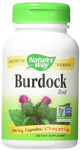 Natures Way 100 Vegetarian Capsules - Natures Way Burdock Root Organic Vegetarian Capsule, 100 ct