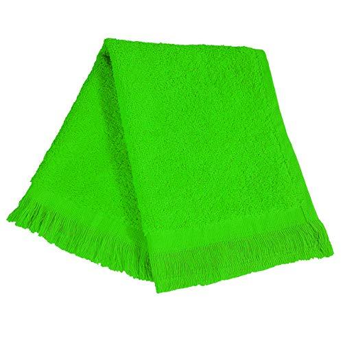 (ToteBagFactory (10 Pack) Set of 10- Economical Fingertip Velour/Terry Towels (Bulk))
