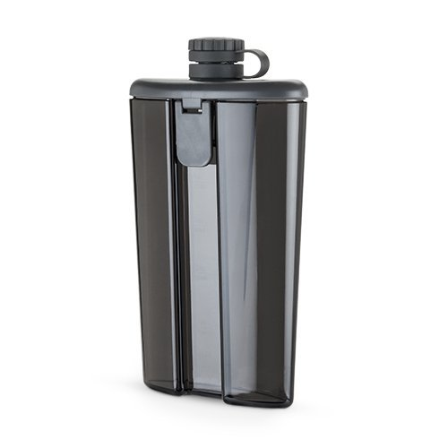 Plastic Hip Flask (Easy-Fill Grey Flask by HOST)