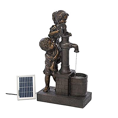 Koehler Home Décor Teamwork Water Pump Solar Fountain